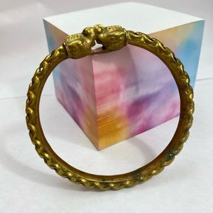 Vintage Gold Bangle Bracelet Estate Patina Boho